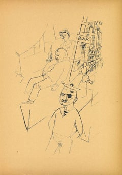 Marseille - Original Lithograph and Offset by George Grosz - 1923
