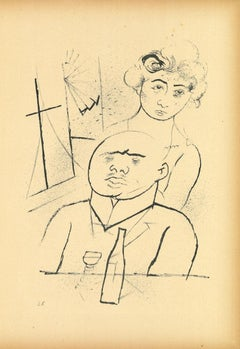 Melancholy - Original Lithograph and Offset by George Grosz - 1923