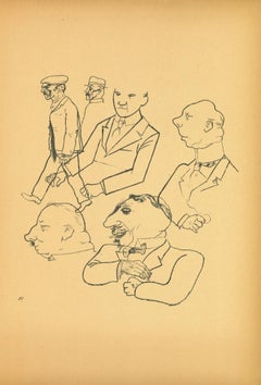 Men from Ecce Homo - Original Lithograph by George Grosz - 1923
