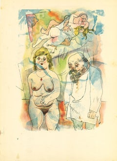 Mommy and Daddy - by George Grosz - 1923