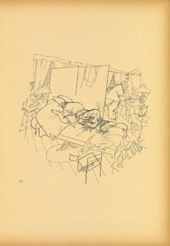 Murder in the Ackerstrasse -  Lithograph and Offset by George Grosz - 1923