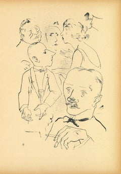 Offspring - Original Lithograph and Offset by George Grosz - 1922