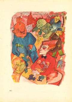 Oh, Crazy World, You blessed Freak Show! - by George Grosz - 1923