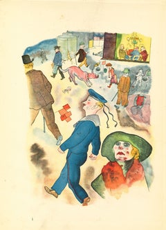 Passersby - by George Grosz - 1923