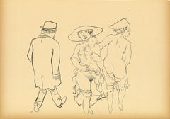 Promenade -  Original Lithograph and Offset by George Grosz - 1923