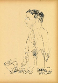 Rudi S. - Original Offset and Lithograph by George Grosz - 1923