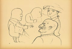 Shark - Original Offset and Lithograph by George Grosz - 1923
