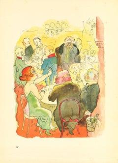 Soirée - by George Grosz - 1923