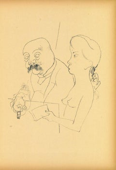 Spring Awakening  - Original Lithograph and Offset by George Grosz - 1923