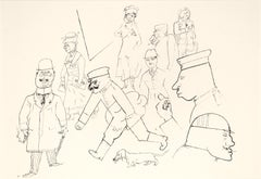 Strassenszene - Original Offset and Lithograph by George Grosz - 1923