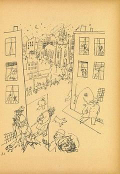 Suburb - by George Grosz - 1923