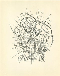 The Cobweb - Original Lithograph and Offset by George Grosz - 1925