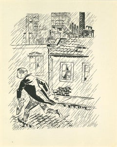 The Escape  Original Lithograph and Offset by George Grosz - 1925