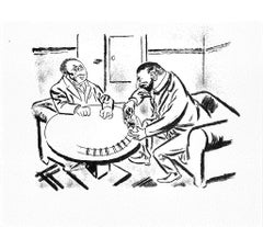 The Game - Original Lithograph and Offset by George Grosz - 1925