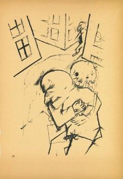 The Hug - Original Lithograph by George Grosz - 1923