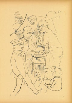 The Power of Music -  Original Lithograph and Offset by George Grosz - 1923