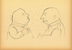The Responsible - Original Lithograph and Offset by George Grosz - 1920
