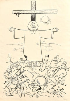 They Thunder forth from Their Cloud - Original Lithograph by George Grosz - 1922