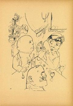 Trio - by George Grosz - 1923