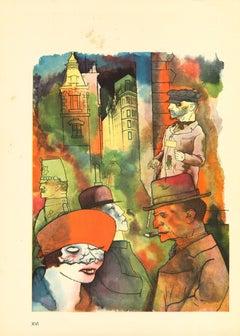 Twilight - by George Grosz - 1923