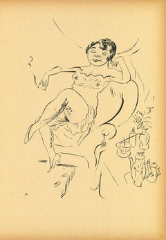 Woman from Ecce Homo - Original Offset and Lithograph by George Grosz - 1923