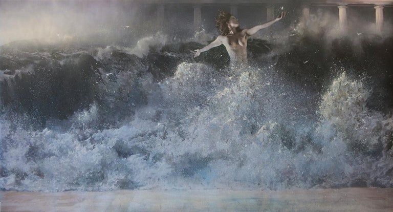 George H. Lewis Figurative Painting - Hebe the Water Bearer