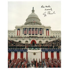 George H. W. Bush Signed and Inscribed 1989 Inaugural Photograph