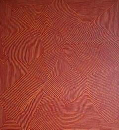 'Tingari' Australian Aboriginal Art by George Hairbrush Tjungurrayi