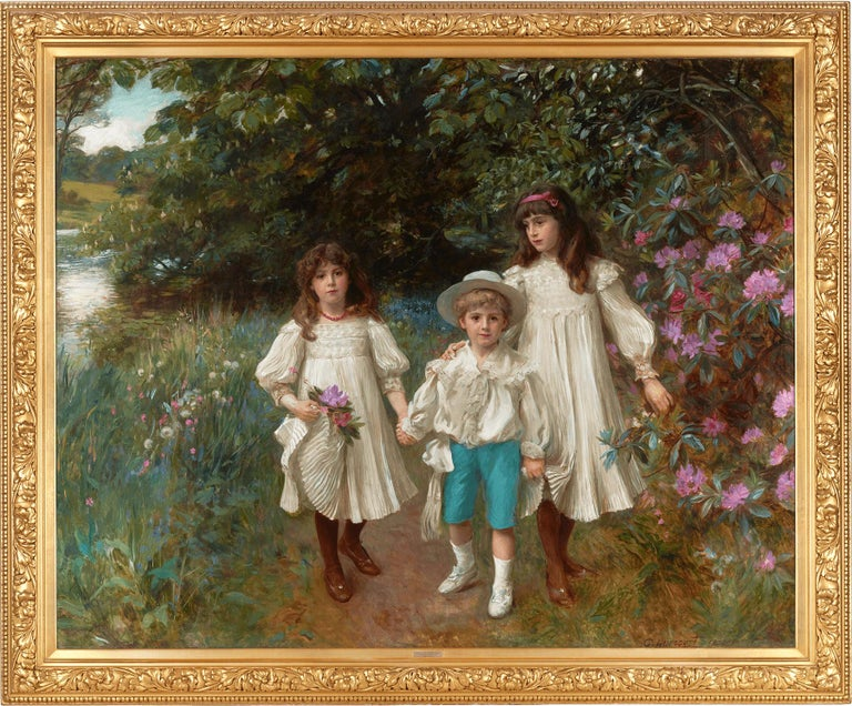 Muriel, Cynthia and George by George Harcourt For Sale 1