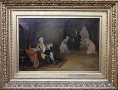 Scottish Interior - Scottish 19th century Victorian art interior oil painting