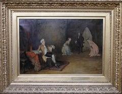 Scottish Interior - Scottish 19th century Victorian art interior oil painting
