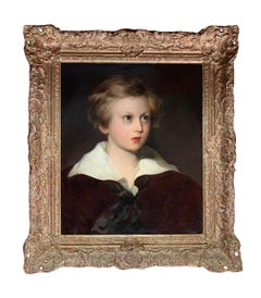19th Century English Oil on Canvas Portrait of a Young Boy (Master Fletcher)