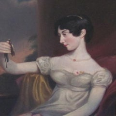 portrait of a lady-19th century,old master,oil, portrait painting, Harlow