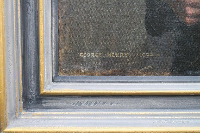 Portrait of a Gentleman - Scottish 1920s art 'Glasgow Boy' artist oil painting  For Sale 2