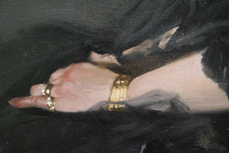 Portrait of a Woman - Scottish 1920s art 'Glasgow Boy' artist  oil painting  2