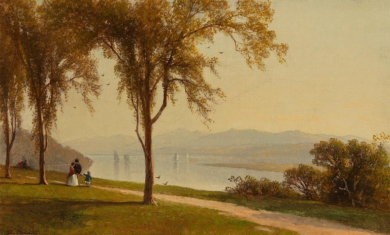 <i>The Catskills from Hudson</i>, 1867, by George Henry Smillie, offered by Questroyal Fine Art