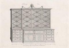 Library Case, Hepplewhite English Georgian furniture design engraving