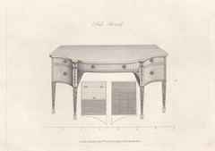 Side Board, Hepplewhite English Georgian furniture design engraving