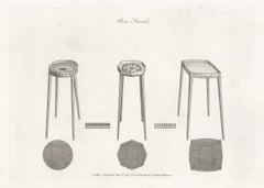Urn Stands, Hepplewhite English Georgian furniture design engraving