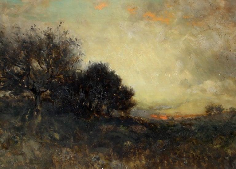 George Herbert McCord Hudson River Luminous Tonalist Oil Painting Moorlands 1