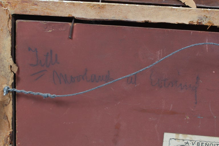 George Herbert McCord Hudson River Luminous Tonalist Oil Painting Moorlands 4