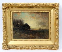 George Herbert McCord Hudson River Luminous Tonalist Oil Painting Moorlands