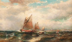 Seascape with Sailboats by George Herbert McCord (American, 1848-1909)