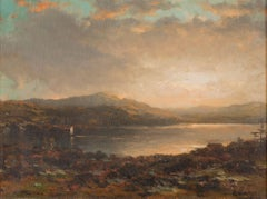 Sunset Over Lake George by George Herbert McCord (American, 1848-1909)