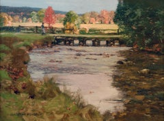 Impressionist Scottish Landscape painting 'Footbridge' by George Houston