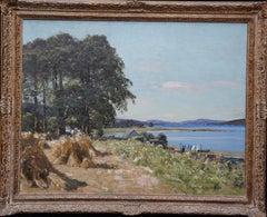Loch Fyne - Scottish 1930's Impressionist art landscape oil painting Scotland