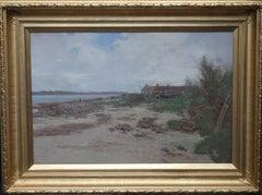 Loch Shoreline - Glasgow Boy Edwardian Scottish Impressionist landscape painting