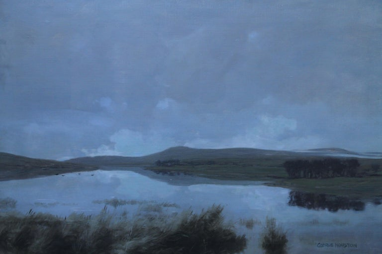 Scottish Loch - Scottish Victorian Impressionist art landscape oil painting  1