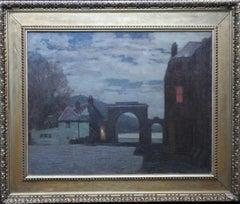 Scottish Nocturne Landscape - Loch Fyne Argyll Impressionist 20's oil painting