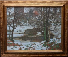 Winter in Lynn Glen - Scottish Impressionist Glasgow Boy oil painting landscape